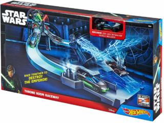 Mattel Hot Wheels Star Wars Track Set Assortito CHB13 Autorennbahn inkl. 1x Auto