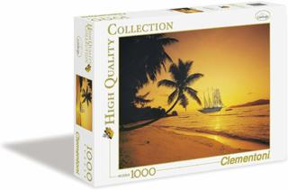 Clementoni 39235.3 - Puzzle High Quality Collection, Seychellen Sonnenuntergang, 1000 Teile