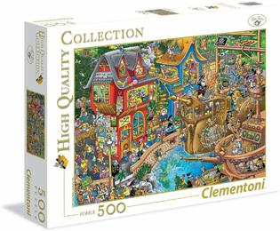 Puzzle - 500 Pieces - Crowded Puzzle Pontcheffs Harbor