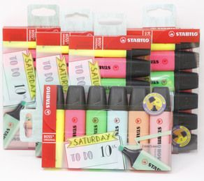 Textmarker - STABILO BOSS ORIGINAL - My STABILO Journal - 6er Pack - 6 Farben