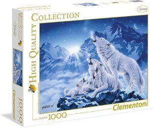 Clementoni 39280 - High Quality Puzzle, 1000 Teile, Family of wolves