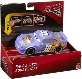 Mattel DYW44 - Disney - Cars 3 - Super Crasher Fahrzeuge, Bobby Swift
