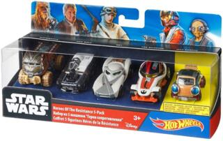 Hot Wheels Mattel DJP17 - Verkehrsmodelle, Star Wars Helden des Widerstands 5-er Pack