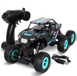 RC Auto, 1:14 Radio Fernbedienung Elektro Buggy Rock Off Road Crawler Truck 6WD Racing Fahrzeug 2.4 Ghz High Speed Ferngesteuert