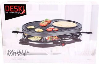 Raclette Party Barbeque Grill für 8 Personen 1200 Watt