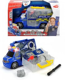 Dickie Toys 203716005 - Police Squad Push and Play, Polizeiauto mit Zubehör, 33cm