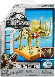 Mattel Jurassic World Fossil Strikers Triceratops Figure