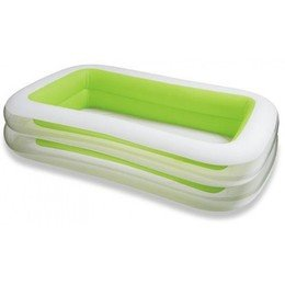 Intex Kinderpool Swim-Center Family Pool, Mehrfarbig, 262 x 175 x 56 cm