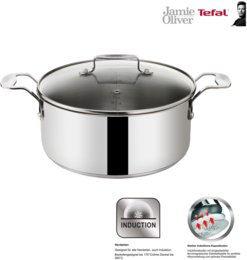 Tefal Jamie Oliver Induction Kochtopf 20cm / 4,4 Liter mit Glasdeckel