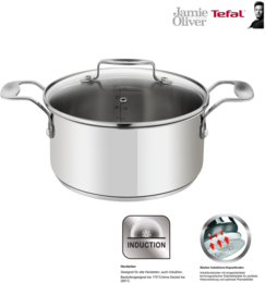 Tefal Jamie Oliver Induction Bratentopf 20cm / 3 Liter mit Glasdeckel