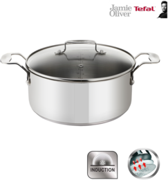 Tefal Jamie Oliver Induction Kochtopf 24cm / 6,7 Liter mit Glasdeckel