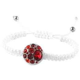 Cham Button Armband in weiss verstellbar