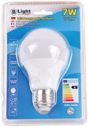 B-Light LED Lampe E-27 Neutralweiß 6.500K - 7 Watt