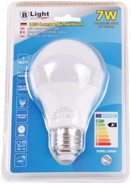 B-Light LED Lampe E-27 Neutralweiß 4.500K - 7 Watt