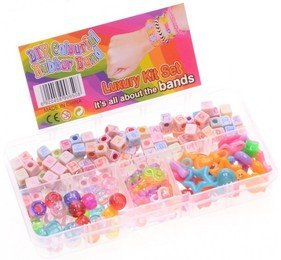 Loom Mixed Beads and S clips 30 Figuren, 35 Clips, 35 Perlen und 100 Buchstaben