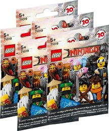 The Lego NINJAGO Movie 71019 Minifigures 5er Set