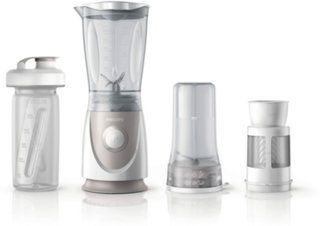 Philips HR2874/00 Mini Standmixer/Smoothiemaker, grau/weiß