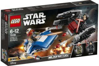 LEGO® Star Wars 75196 A-Wing# vs. TIE Silencer# Microfighters