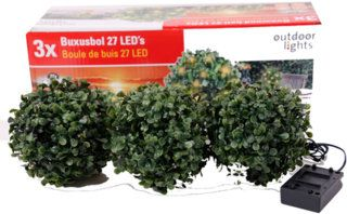 Outdoor Lights Solar buxus 9 LED, 33 x 16 cm