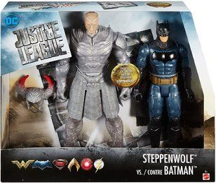 Matte! FGG85-DC Justice League -Figuren 2er-Pack, Steppenwolf vs. Batman, 30 cm