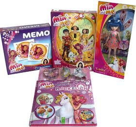 Mia and Me 4er Set Backbuch, Barbie Puppe