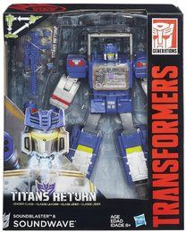 Hasbro B7997-Transformers- Titans Return, Leader Soundblaster & Soundwave