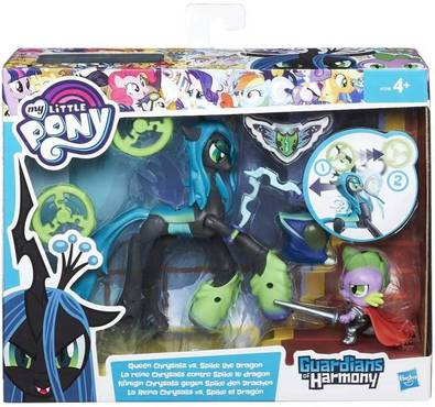 My Little Pony Guardians Of Harmony Queen Chrysalis V. Spike The Dragon -