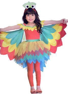 Madchen Kostum Verkleidung Fasching Karneval Party Papagei Online