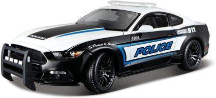 Ford Mustang Gt Polizei Modellauto Mit Federung Maßstab 118