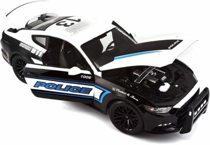 ford mustang gt polizei modellauto mit federung ma stab. Black Bedroom Furniture Sets. Home Design Ideas