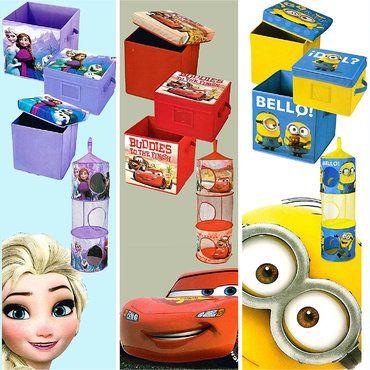 Details Zu Disney 4x Teile Kinderzimmer Set Box Hangeorganizer Box Mit Deckel Sitzkiste