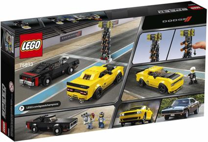 LEGO® Speed Champions 75893 2018 Dodge Challenger SRT Demon und 1970 Dodge Charger R/T