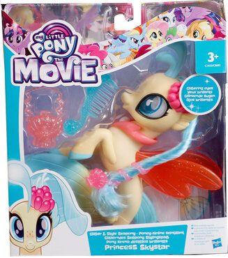 Hasbro My Little Pony C1831ES0 - Glitzernde Seeponys Stylingspaß Princess Skystar