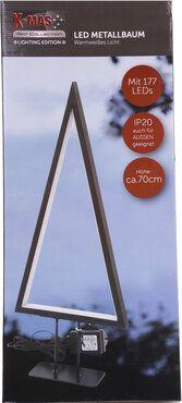 X-MAS Art Collection LED Metallbaum im Edel-Design 70 cm 177 LEDs schwarz