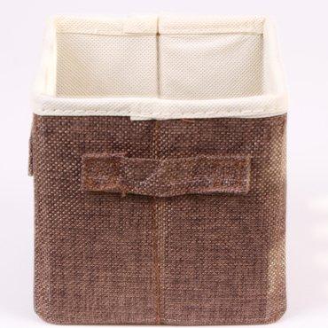 aufbewahrungsbox deko faltbox stoff schwarz grau braun beige neu ovp ebay. Black Bedroom Furniture Sets. Home Design Ideas