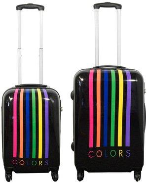 kofferset modell mailand 2 teilig schwarz leichte. Black Bedroom Furniture Sets. Home Design Ideas