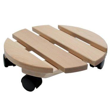 pflanzenroller holz massiv rund 30 cm bis 120 kg online kaufen. Black Bedroom Furniture Sets. Home Design Ideas