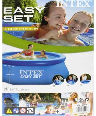 Intex easy set pool 244 cm x 76 cm 128110np quick up for Quick up pool obi