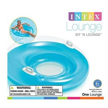 schwimmsessel intex sit n lounge 119cm pool sessel mehrfarbig neu ovp ebay. Black Bedroom Furniture Sets. Home Design Ideas