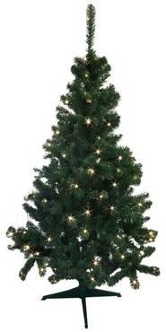 Kunstlicher weihnachtsbaum geschmuckt mit lichterkette