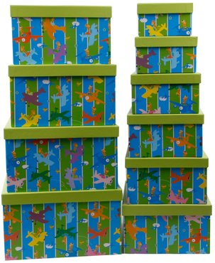 Aufbewahrungsboxen design 39 giraffen 39 10er set f r das - Aufbewahrungsboxen kinderzimmer design ...