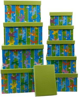 aufbewahrungsboxen design 39 giraffen 39 10er set f r das kinderzimmer online kaufen. Black Bedroom Furniture Sets. Home Design Ideas