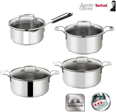 tefal jamie oliver induction kochtopf set 8 tlg induktions geeignet online kaufen. Black Bedroom Furniture Sets. Home Design Ideas