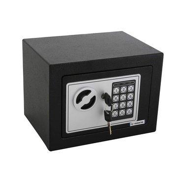 tresor safe digital 23x17x17 cm schwarz mit zahlenkombinationsschloss online kaufen. Black Bedroom Furniture Sets. Home Design Ideas