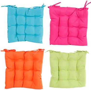 sitzkissen stuhlkissen 40x40 cm mit b ndern in 4 farben online kaufen. Black Bedroom Furniture Sets. Home Design Ideas