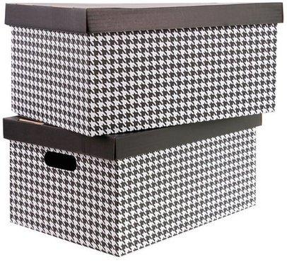 aufbewahrungsbox aus pappe im 2er set verschiedene gr en und motive online kaufen. Black Bedroom Furniture Sets. Home Design Ideas