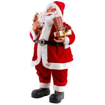 weihnachtsmann deko santa clause weihnacht nikolaus figur gro weihnacht deco ebay. Black Bedroom Furniture Sets. Home Design Ideas