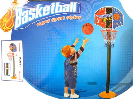 kinder mini basketballkorb mit st nder basketballst nder basketballnetz ink bal 4250111315357. Black Bedroom Furniture Sets. Home Design Ideas