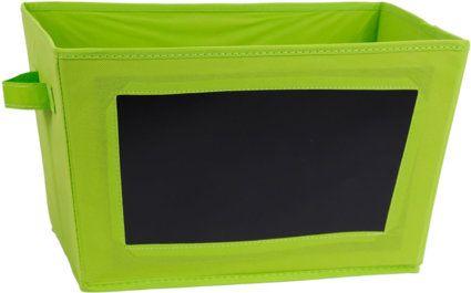 aufbewahrungsbox kiste mit beschreibbarer kreidetafel in. Black Bedroom Furniture Sets. Home Design Ideas