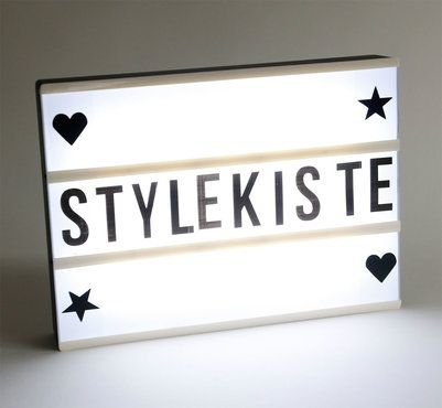 led leuchtkasten inkl buchstaben symbole batteriebetrieb deko lampe lightbox online kaufen. Black Bedroom Furniture Sets. Home Design Ideas
